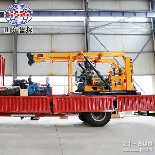 山东鲁探XYC-3车载式液压岩芯钻机深层取样勘探打井一体机