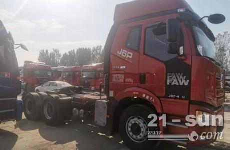 国五双驱轻体420马力二手解放J6P牵引车解放J6P牵引车二手场地牵引车
