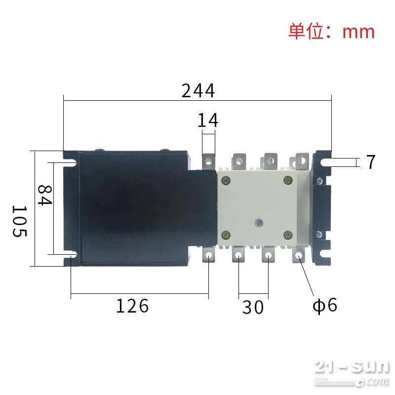 100A隔离型双电源切换开关三相4p市电逆变转换器手动两项不断电
