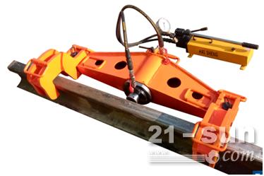 YZG-550型双钩直钩器  双钩型液压轨道调弯机  中铁钢轨调直弯曲机铁道折弯器