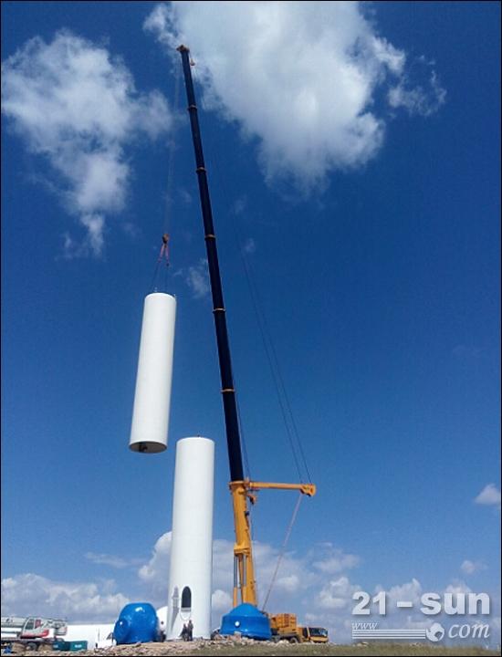 如虎添翼 徐工qay650起重机助力风电吊装显奇功高清图片