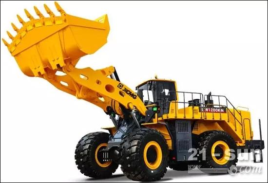 中国首台最大吨位装载机徐工LW1200KN雄姿-徐工装载机率先发起对