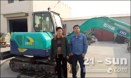石川岛挖掘机用户风采录