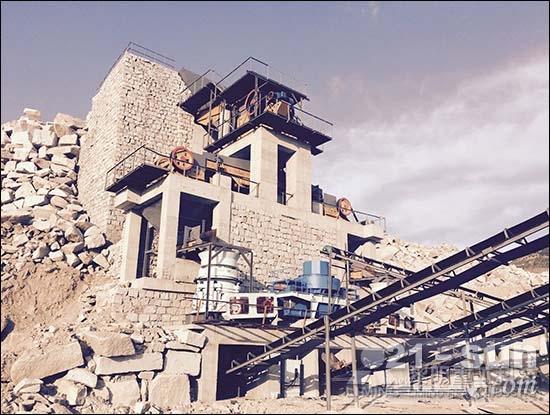 吉林省花岗岩破碎制砂生产线