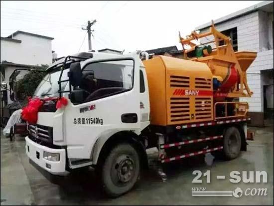 三一重工全球首发 跨界新品 搅拌车载泵落户湖南