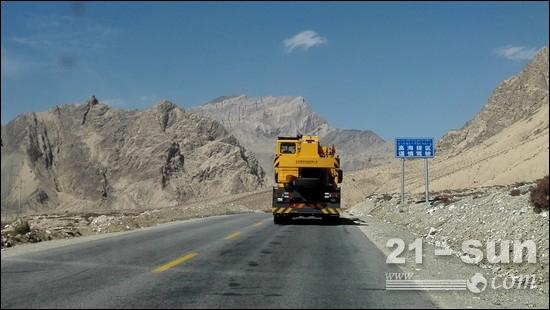 格尔木昆仑山高原环境行驶作业测试(海拔>4500m)
