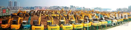 國內二手工程機械設備保有量約500萬臺