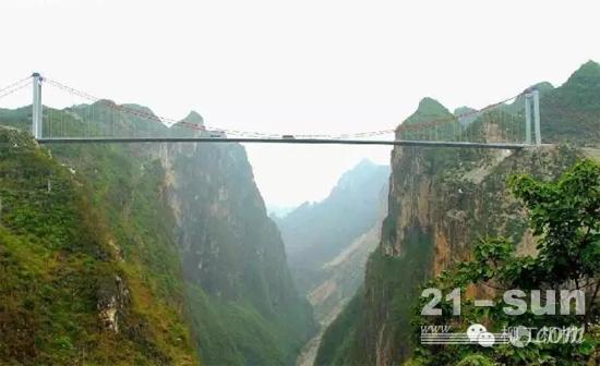 柳工欧维姆钢绞线拉索拉起世界第一高桥