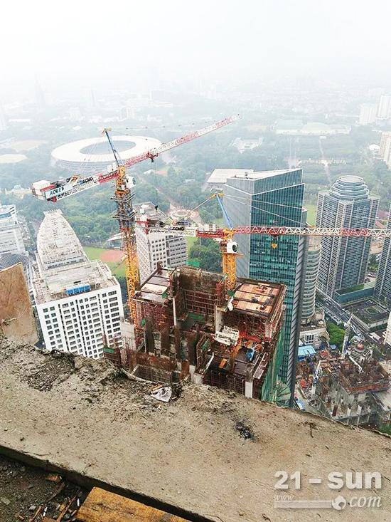 徐工塔机建设印尼280米新高度
