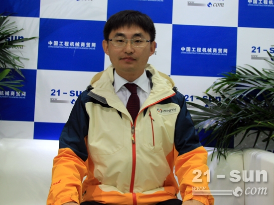 上海西芝矿山工程机械有限公司销售总监张小龙
