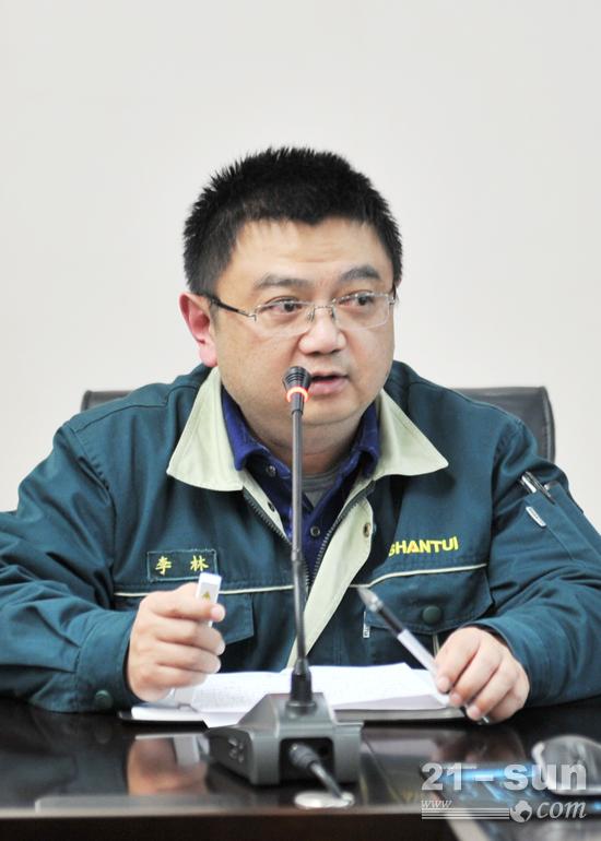 山推道路机械事业部副总经理李林