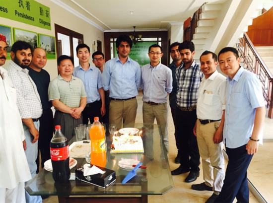 巴基斯坦子公司为外籍员工伊尔凡庆祝生日