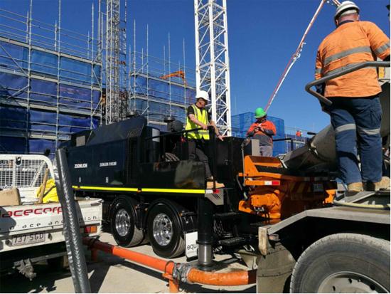 中联重科产品在澳洲参与施工建设