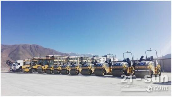 徐工XMR403VO压路机批量发车西藏