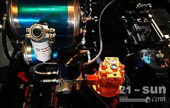 宝鼎轮式挖掘机液压系统部件图片