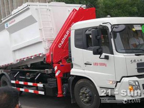 常林新型自装卸式垃圾车