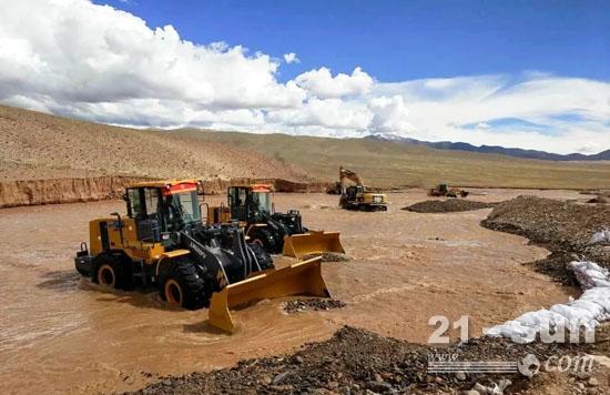 2017年,西藏阿里木暴雨,洪水抢险