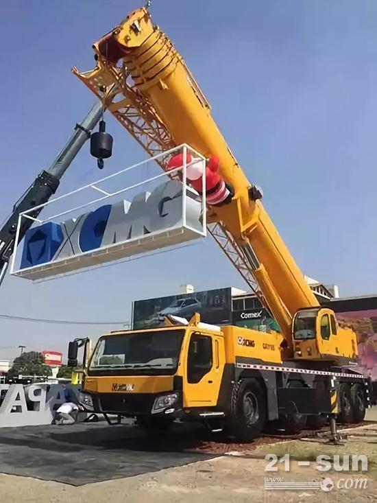 2017年徐工精品亮相墨西哥最大起重机械行业展会AGEDI展