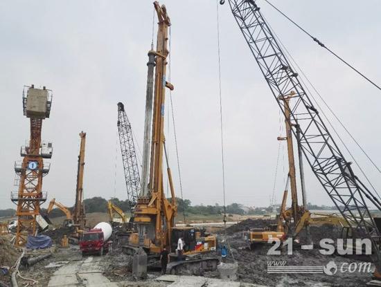 徐工旋挖钻机在印尼城市综合体项目施工工程中展示大国重器风范
