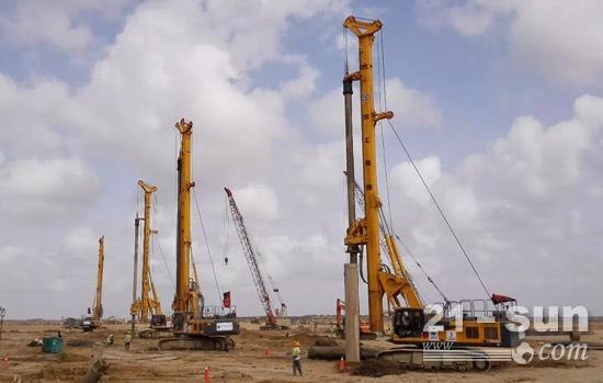 """徐工旋挖钻""""一带一路""""显风采,群机助力巴基斯坦卡拉奇卡西姆电厂建设"""