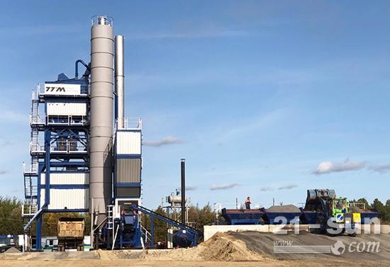 铁拓机械在俄罗斯地区又一台新沥青混合料搅拌设备完成安装