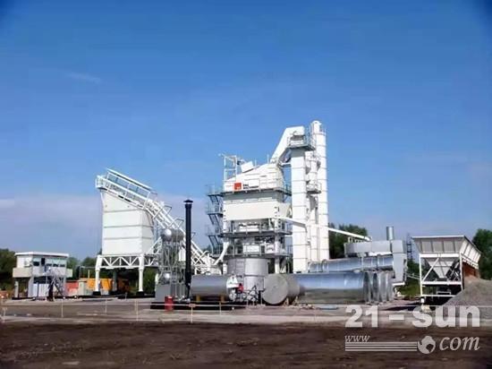 德基机械沥青拌合站在俄罗斯
