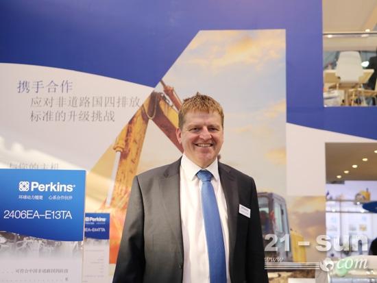 Perkins发动机有限公司市场拓展经理李骜华