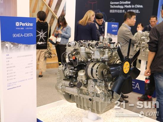 Perkins在上海宝马展上展出的发动机产品