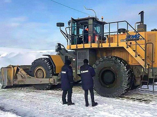 在西伯利亞見證徐工輪推強悍實力