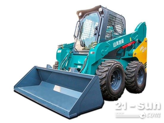 一台顶数台的高品质设备:山河智能SWL4018滑移装载机