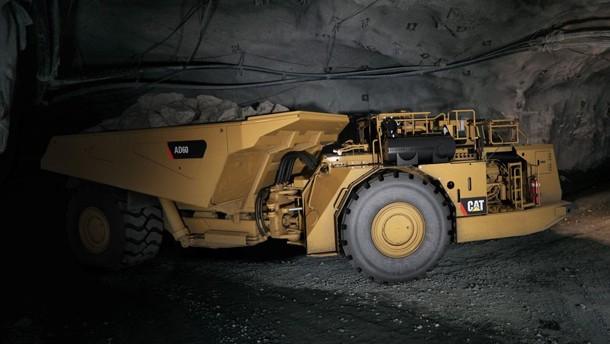 卡特彼勒地下硬岩铰接式卡车
