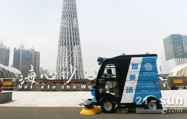5G无人驾驶清扫车智ag打鱼王赛洁助力聪明都会建立