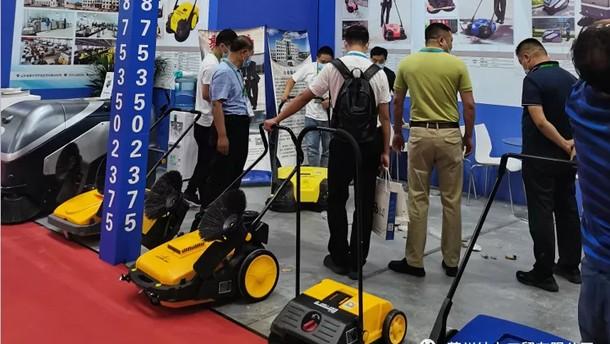 莱州结力扫地机系列产品亮相北京展会