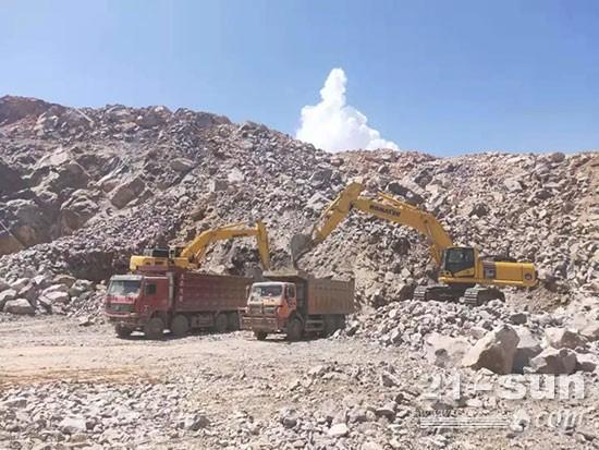 寻觅17年,石灰石矿场老板选中5台小松大挖