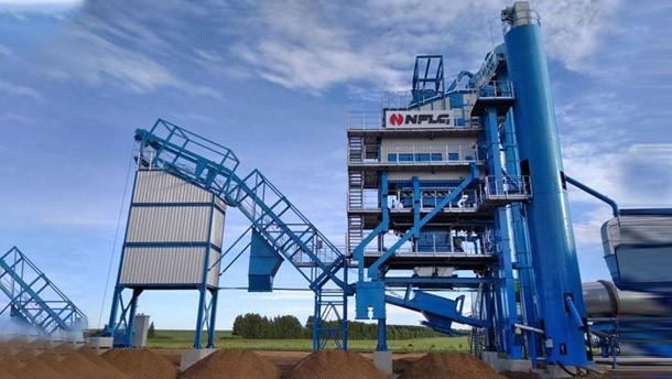 南方路机LB2000沥青混合料搅拌设备应用于俄罗斯...