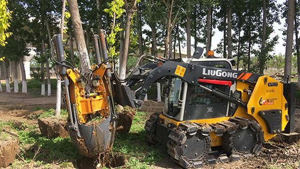 灵活高效,焕发新貌,柳工936E挖掘机适用园林绿化