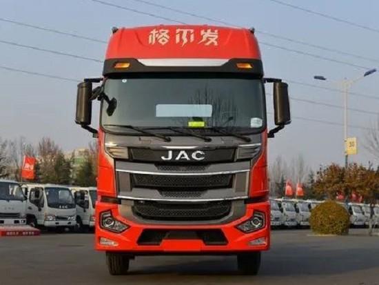 实拍江淮格尔发A5X 6米8载货车