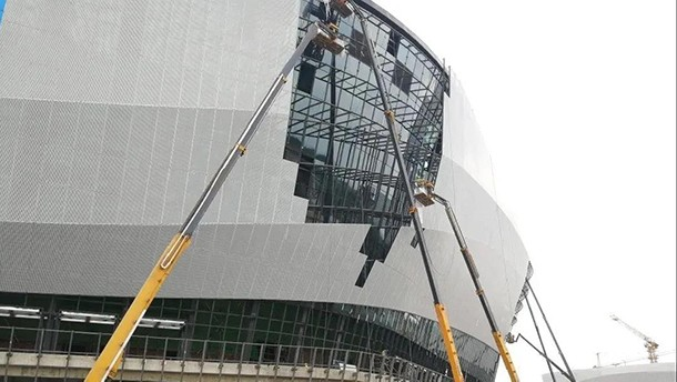 30天完成15万平方米鸟巢外围全面修复!XGS28直臂成就卓著