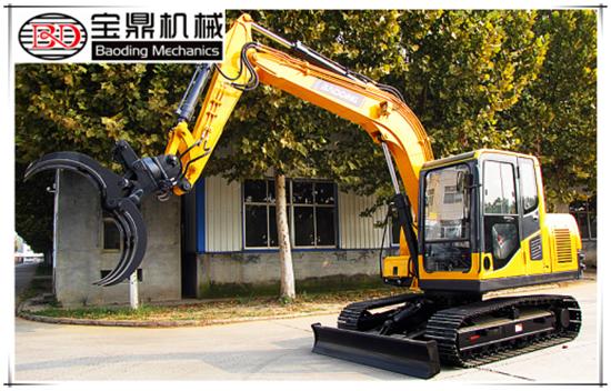 山东宝鼎新款热门产品BD80-8小型履带抓木机成功上市