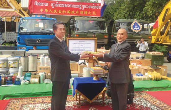中联重科设备参与中国援柬项目