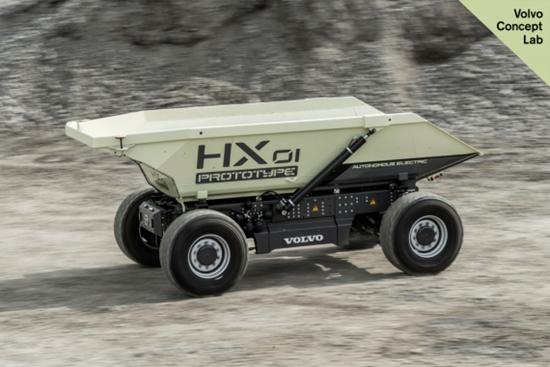 沃尔沃建筑设备推出新一代概念设备HX2电动装载车