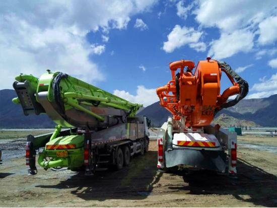 中联重科工程机械4.0产品助建拉萨市政
