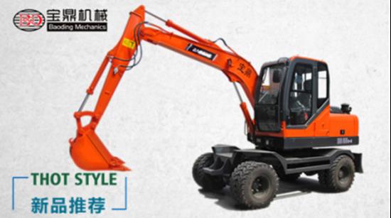宝鼎机械BD85W-9轮式挖掘机主要参数配置介绍