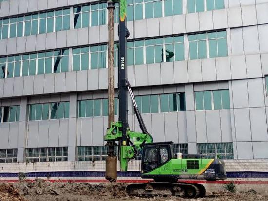 泰信KR125小型旋挖钻机佛山高效施工显优势