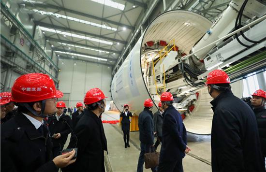 中建集团首批盾构机在南京完成制造顺利下线