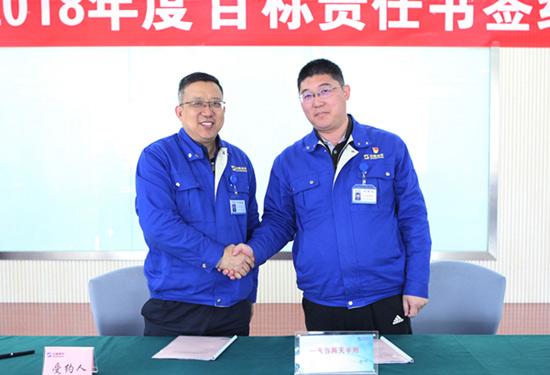 山重建机举行2018年度目标责任书签订仪式