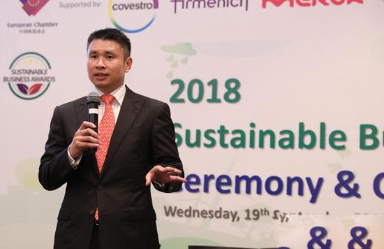 """沃尔沃建筑设备荣获中国欧盟商会""""企业社会共享价值""""大奖"""