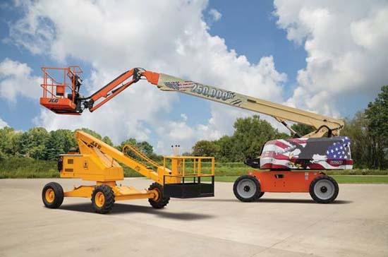 捷尔杰第25万台自行式高空作业平台成功下线