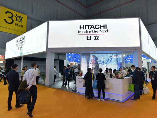 日立借进博会展示多领域创新,今年中国销售目标1.1万亿日元