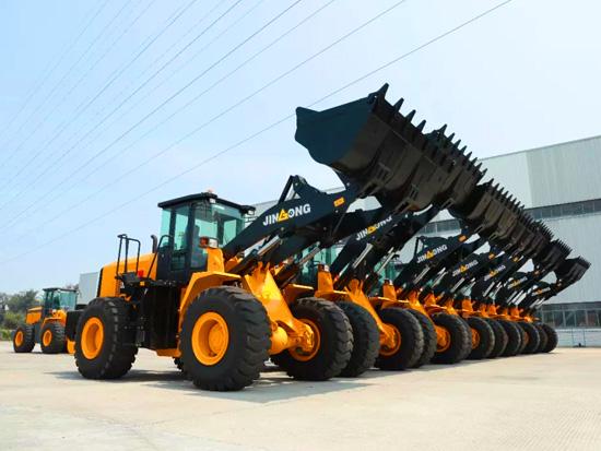 晋工装载机批量出口印度尼西亚发车仪式在总部举行